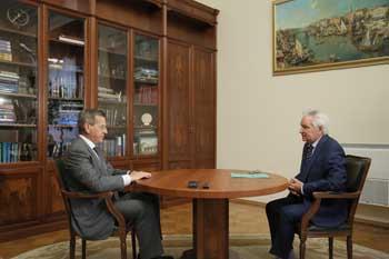 Александр Жилкин попросил депутата Госдумы Александра Клыканова сосредоточиться на вопросах экологии дельты Волги
