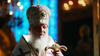 В Успенском кафедральном соборе Астрахани состоялась литургия в честь Воздвижения с участием Святейшего Патриарха Кирилла
