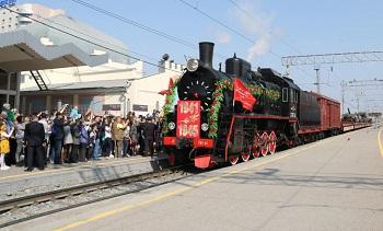 Астрахань встречает первой ретропоезд «Воинский эшелон»