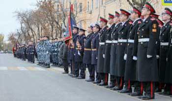 В Астрахани состоялся парад в честь 100-летия образования органов внутренних дел России