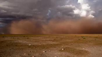На Астрахань надвигается пыльная буря