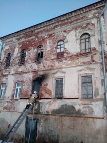 В Чуркинском монастыре в Астраханской области произошёл пожар