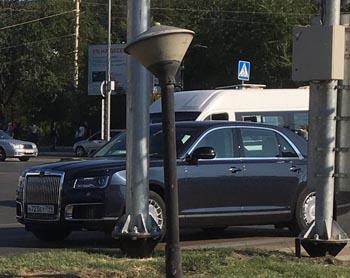 В Астрахани замечено президентское авто