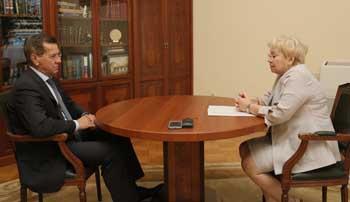 Руководитель пенсионного фонда отчиталась перед губернатором