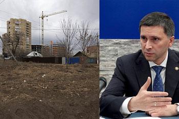 Только после вмешательства федерального чиновника в центре Астрахани убрали мусор