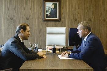 Сергей Морозов встретился с главой Минпрома РФ