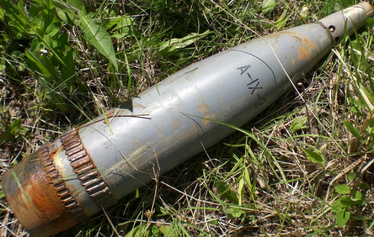 В центральном районе Астрахани нашли артиллерийский снаряд