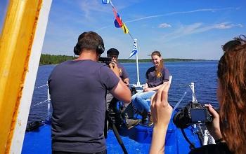 В Астрахани снимают документальный проект «Великие реки России»