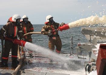 На «Астрахани» ликвидировали пожар