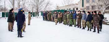 В Астрахани прошли первые зимние военно-мобилизационные сборы астраханских казаков