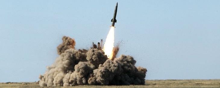 В Астраханской области взлетела баллистическая ракета