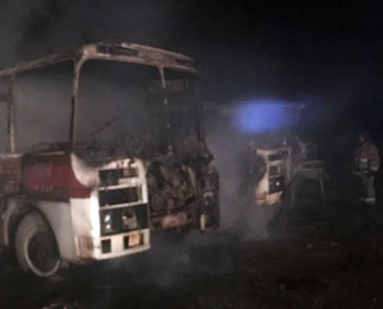 На двух пожарах в Астрахани спасено 22 человека