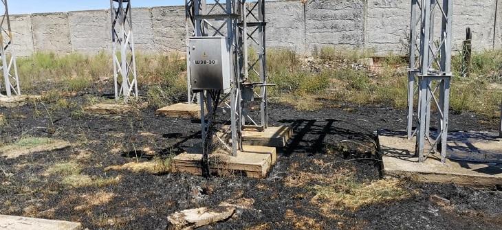 В Астрахани загорелся трансформатор
