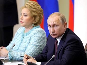 В работе Совета законодателей принял участие президент России Владимир Путин