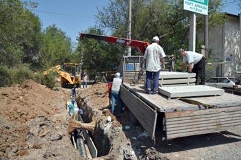 В Астрахани ремонтируют улицу Коновалова
