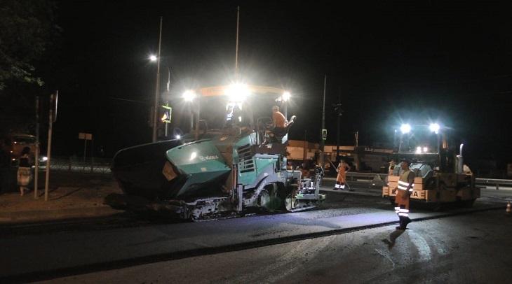 Ночные дорожные работы в Астрахани