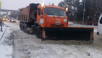 Куда в Астрахани девается снег?