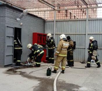 В Астрахани горел изолятор временного содержания