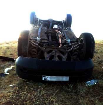 """На трассе """"Астрахань - Ставрополь"""" перевернулась машина. Есть пострадавший"""