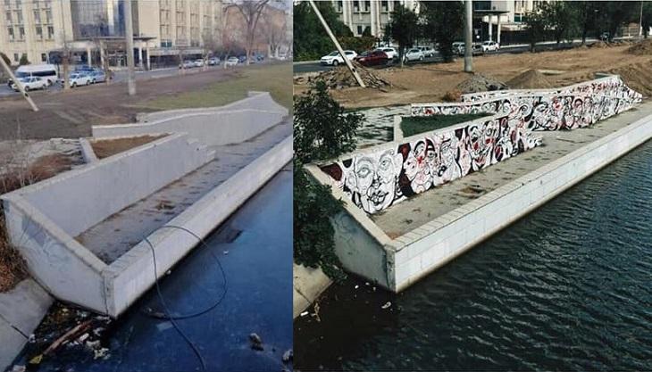 В Астрахани коммунальщики уничтожили арт-объект