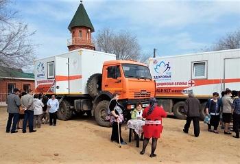 «Поезд здоровья» продолжает работу в Красноярском районе