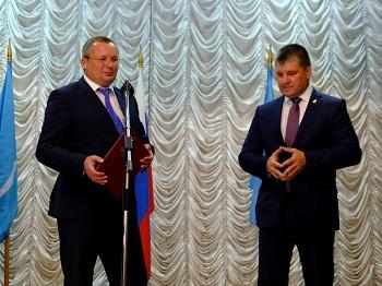 Игорь Мартынов принял участие в церемонии вступления в должность главы Харабалинского района