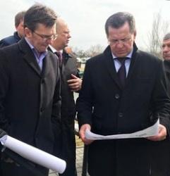 Губернатор Александр Жилкин и глава горадминистрации Олег Полумордвинов инспектируют областной центр
