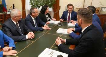 Александр Жилкин встретился с делегацией Московской городской Думы