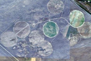 В Астраханской области обнаружены загадочные круги на земле