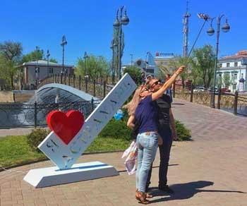 "Знак ""Я люблю Астрахань"" снова радует глаза горожан"