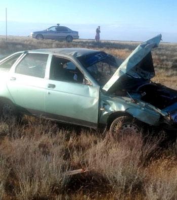 Под Астраханью пьяница опрокинул авто и убил товарища