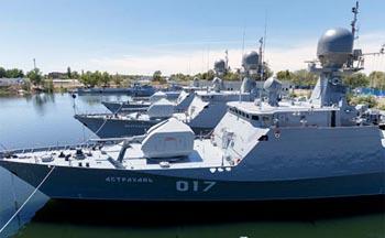 Каспийскую флотилию выводят на чистую воду