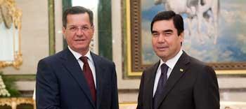 Александр Жилкин и Гурбангулы Бердымухамедов выразили готовность к расширению сотрудничества Астраханской области и Туркменистана
