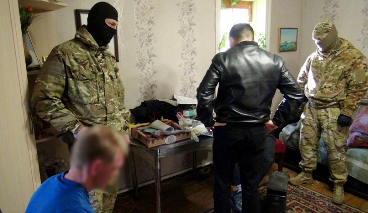 Задержание банды астраханских разбойников попало на видео