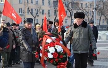 В Астрахани почтили память вождя пролетариата Владимира Ленина