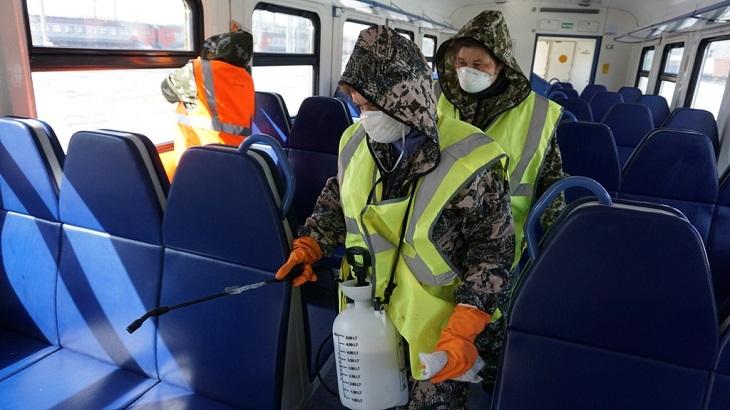 Астраханские железнодорожники следят за соблюдением санитарных норм