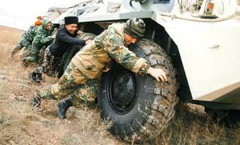 Астраханские казаки провели осенние военно-полевые сборы