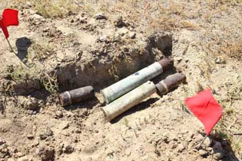 Под Астраханью обнаружены снаряды времен Великой Отечественной войны
