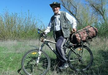 Путешественник объехал на велосипеде Астраханскую область