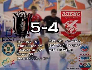 Астраханский «Хазар» вырвал победу у рязанского клуба