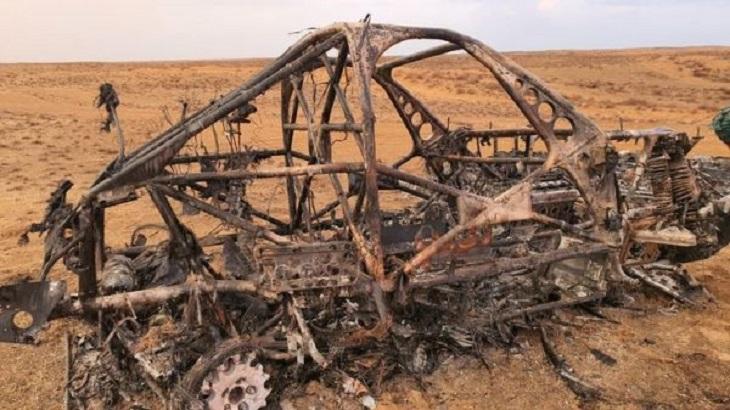 Под Астраханью сгорел болид ралли-рейда «Золото Кагана»