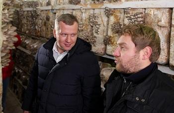 Сергей Морозов поможет икрянинским фермерам завоевать астраханский грибной рынок