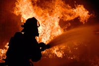 Пожар на ТРЗ в Астрахани