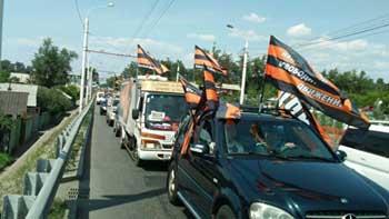 Колонна Всероссийского православного автопробега сегодня прибыла в Астрахань