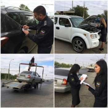 11 автомобилей арестовано у злостных должников в ходе рейда УФССП