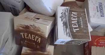 В Астраханской области полицейские совместно с сотрудниками ФСБ накрыли подпольный водочный завод