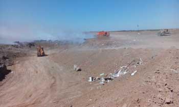 Сразу несколько мусорных объектов подверглись возгоранию этой ночью