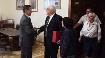 Александр Жилкин встретился с почетным гражданином Астрахани Вольфом Бауэром