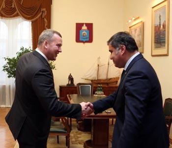 Врио губернатора Астраханской области встретился с новым главой регионального следкома