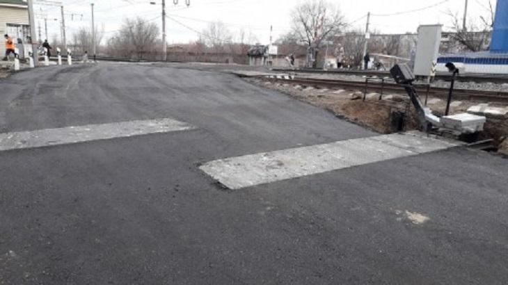 Отремонтирован железнодорожный переезд на станции Астрахань - 1